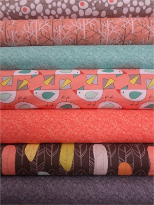 Mark Hordyszynski, Birds of a Feather, Coral in FAT QUARTERS 7 Total