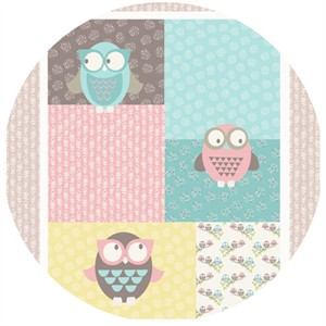 Fabric Freedom, Woodland Walk, Owl You Alright Pastel (35 Inch Panel)