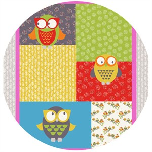 Fabric Freedom, Woodland Walk, Owl You Alright Bright (35 Inch Panel)