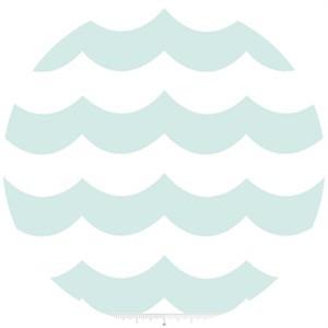 Marin Sutton, Maritime Modern, Chevron Wave Aqua