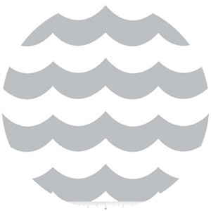 Marin Sutton, Maritime Modern, Chevron Wave Gray