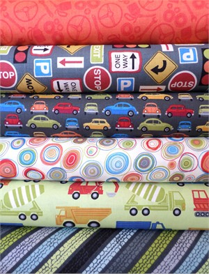 Makower UK, Auto, Pavement in FAT QUARTERS 6 Total