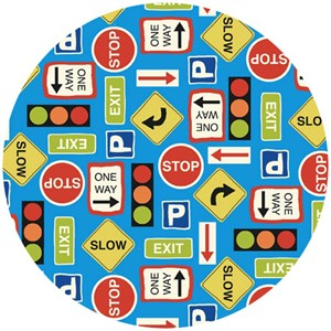 Makower UK, Auto, Roadsigns Blue