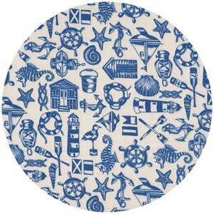 Makower UK, Coastal, Icons Blue