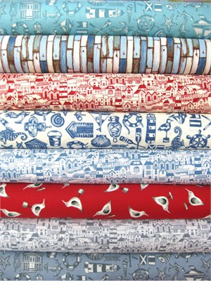 Makower UK, Coastal in FAT QUARTERS 8 Total