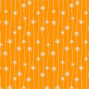 Makower UK, Meadow, Streamers Orange