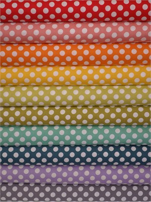 Makower UK, Polka Dot Basics in FAT QUARTERS 10 Total