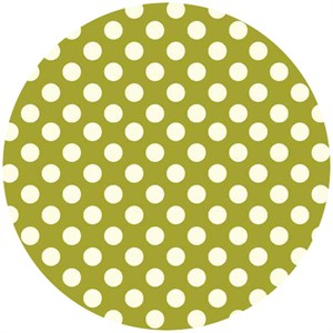 Makower UK, Polka Dot Bright Olive