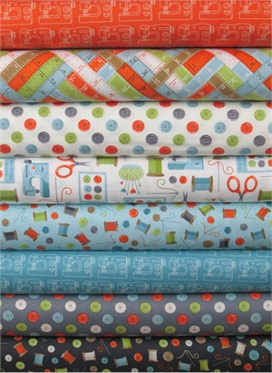 Makower UK, Sew Simple in FAT QUARTERS 8 Total