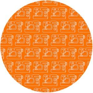 Makower UK, Sew Simple, Sewing Machines Orange