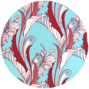 Melissa Crowley for Robert Kaufman, La Femme, Foliage Aqua