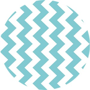 Riley Blake, Medium Chevron, Aqua