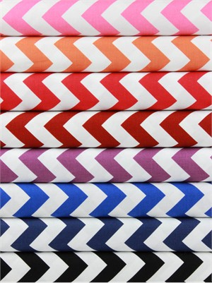 Riley Blake, Medium Chevron, Bold in FAT QUARTERS 8 Total