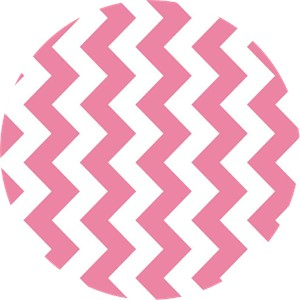 Riley Blake, Medium Chevron, Hot Pink