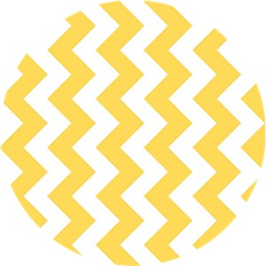 Riley Blake, Medium Chevron, Yellow