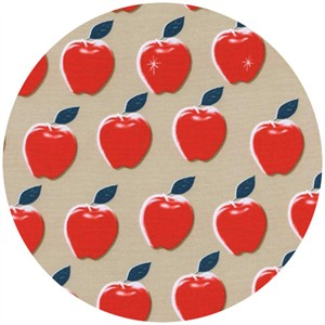 Melody Miller for Cotton and Steel, Picnic, Apples Red