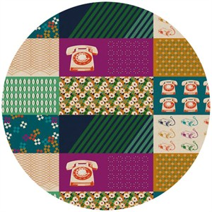 Melody Miller for Kokka, Ruby Star Spring 2012, Rotary Ambrosia (1 Yard Panel)
