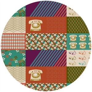 Melody Miller for Kokka, Ruby Star Spring 2012, Rotary Aspic (1 Yard Panel)