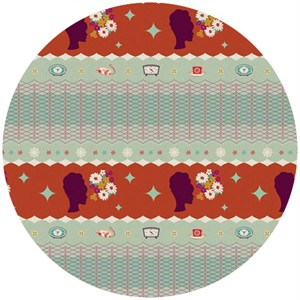 Melody Miller for Kokka, Ruby Star Spring 2012, Starlet Aspic (1 Yard Panel)