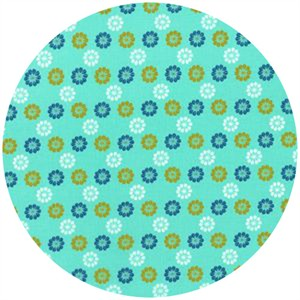 Melody Miller for Cotton and Steel, Mustang, Daisies Aqua