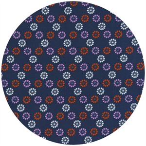 Melody Miller for Cotton and Steel, Mustang, Daisies Navy
