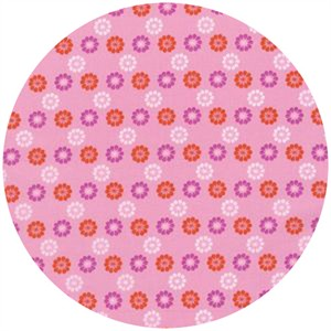 Melody Miller for Cotton and Steel, Mustang, Daisies Pink