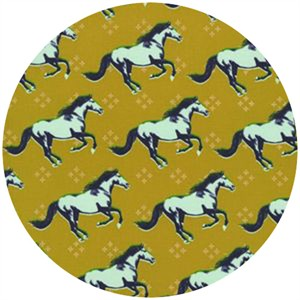 Melody Miller for Cotton and Steel, Mustang, Mustang Gold (Metallic)