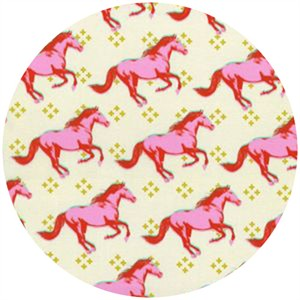 Melody Miller for Cotton and Steel, Mustang, Mustang Pink