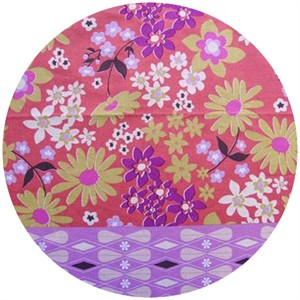 "Melody Miller, Ruby Star Polka Dot, Daisy Dots Purple (23"" Panel)"
