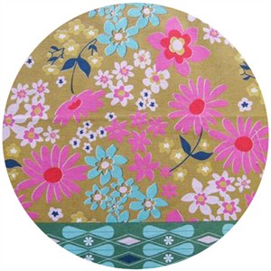 "Melody Miller, Ruby Star Polka Dot, Daisy Dots Teal (23"" Panel)"