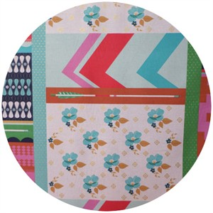 Melody Miller, Ruby Star Polka Dot, WIDE WIDTH, Patchwork Aqua (1 Yard Panel)