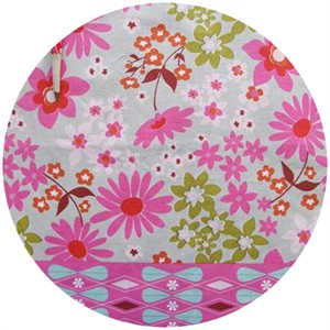 "Melody Miller, Ruby Star Polka Dot, Daisy Dots Pink (23"" Panel)"