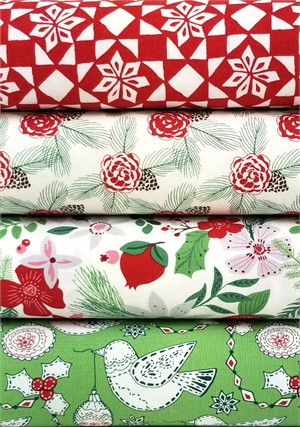 Kate Spain for Moda, Merry Merry in FAT QUARTERS 4 Total