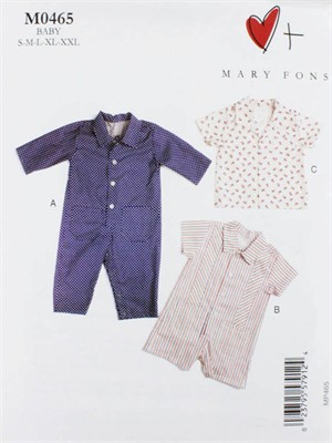 Mary Fons, Sewing Pattern, Baby Overalls and Shirt
