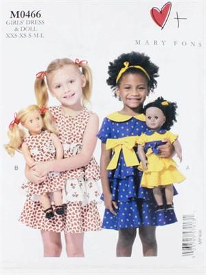 Mary Fons, Sewing Pattern, Girls' Dress & Doll
