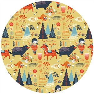 Miriam Bos for Birch Organic Fabrics, Wildland, Village Feast Sun