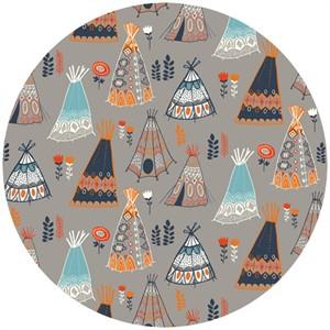 Miriam Bos for Birch Organic Fabrics, Wildland, KNIT, Teepees Shroom