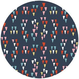 Miriam Bos for Birch Organic Fabrics, Wildland, DOUBLE GAUZE, Arrowheads Dusk