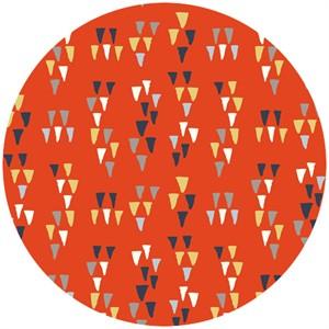 Miriam Bos for Birch Organic Fabrics, Wildland, Arrowheads Tomato
