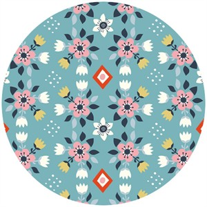 Miriam Bos for Birch Organic Fabrics, Wildland, Flowerbed Blue