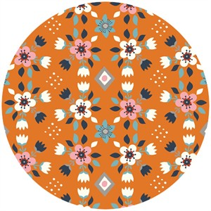 Miriam Bos for Birch Organic Fabrics, Wildland, Flowerbed Orange