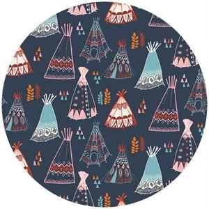 Miriam Bos for Birch Organic Fabrics, Wildland, Teepees Dusk