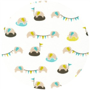 Michelle Engel Bencsko, Nursery, FLANNEL, Elefete Sky