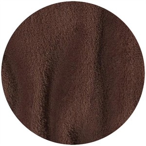 Minky Fleece, Double Sided, Solid, Dark Brown