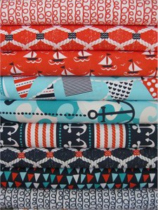 Michael Miller, Ahoy Matey, Entire Collection in FAT QUARTERS, 8 Total