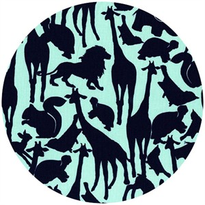 Michael Miller, Animal Silhouettes Mint