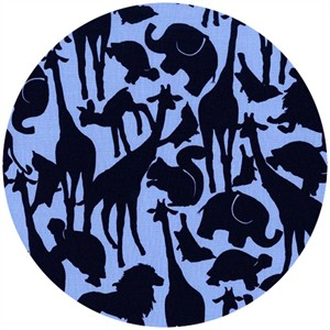Michael Miller, Animal Silhouettes Navy