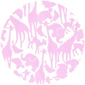 Michael Miller, Animal Silhouettes Pink