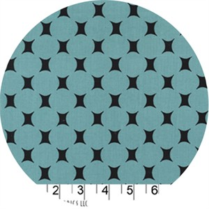 Michael Miller, Midcentury Modern, Atomic Dot Turquoise