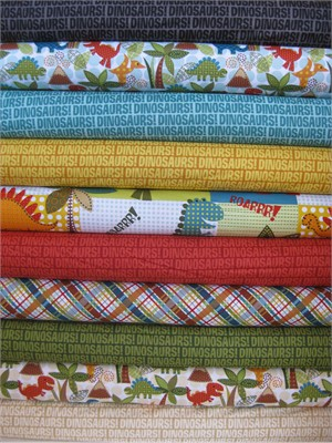 Michael Miller, Dinosaurs! in FAT QUARTERS 9 Total